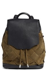 Rag And Bone Pilot Suede Leather Backpack Green Olive