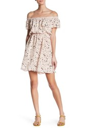 The Kooples Tattoo Print Off Shoulder Silk Dress Multi