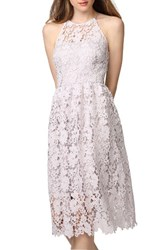 Donna Morgan Women's Chemical Lace Fit And Flare Midi Dress