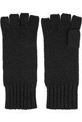 N.Peal Cashmere Cashmere Fingerless Gloves Black