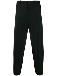 Balenciaga Cropped Tailored Trousers Black