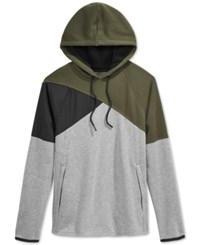American Rag Performance Colorblocked Hoodie Only At Macy's Pewter Heather