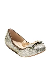 Cole Haan Tali Bow Ballet Flats Gold