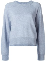 Alexander Wang T By Cropped Jumper Blue