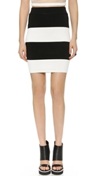 Shakuhachi Big Stripe Tube Skirt Black White