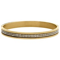 Dyrberg Kern Lorbel Double Row Crystal Set Bangle Gold