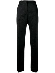 Msgm All Over Logo Trousers Black