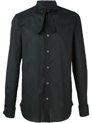 Ann Demeulemeester Lace Up Collar Shirt Black