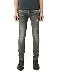 Allsaints Raveline Cigarette Super Slim Fit Jeans In Dark Grey Dark Gray