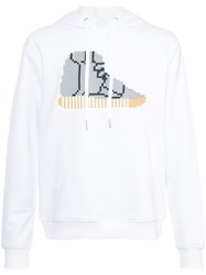 Mostly Heard Rarely Seen Hi Top Sneaker Hoodie Cotton L White