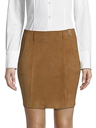 Ag Adriano Goldschmied Slim Nautical Suede Mini Dress Hazelnut