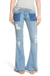 Women's True Religion Brand Jeans 'Karlie' Released Hem Bell Bottom Jeans Beyond Blue