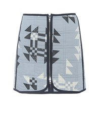 Isabel Marant Lickly Quilted Cotton Skirt Blue