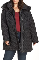 Marc New York Plus Size Quilted Coat With Detachable Hood