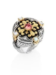 Konstantino Nemesis Mother Of Pearl And Pink Tourmaline Ring No Color