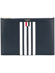 Thom Browne Striped Pouch Bag Leather Blue