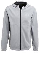 Under Armour Tracksuit Top True Gray Heather Black Silver Grey