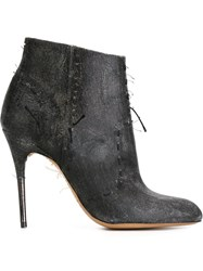 Maison Martin Margiela Maison Margiela Distressed Stiletto Booties Black
