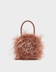 Loeffler Randall Zadie Feather Circle Tote In Buff