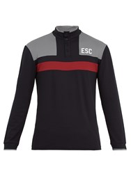 Every Second Counts Scrum Long Sleeved Performance Henley Shirt Black Multi