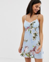 Ted Baker B By Harmony Floral Print Chemise In Blue