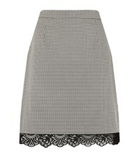 Claudie Pierlot Succes Houndstooth Skirt Female Neutral