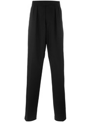 Raf Simons Loose Fit Straight Trousers Black