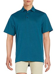 Saks Fifth Avenue Interlock Polo Shirt Marine Blue