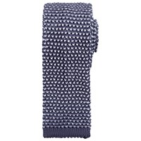 Kin By John Lewis Dalton Knitted Tie Pewter White