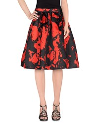 Lucy Paris Skirts Knee Length Skirts Women Red