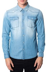 7 Diamonds Men's 'Beyond Me' Trim Fit Chambray Shirt