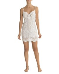 Jonquil Jasmine Floral Lace Chemise Ivory