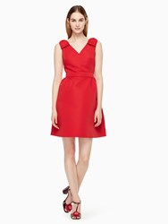 Kate Spade Double Bow Structured Dress Souk Red