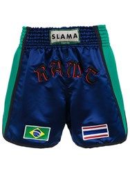 Amir Slama Boxing Shorts Blue