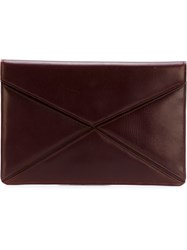 Christian Dior Vintage Envelope Clutch Brown