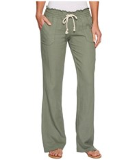 Roxy Ocean Side Pant Olive Women's Casual Pants