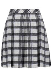Proenza Schouler Pleated Checked Crepe Mini Skirt Multi
