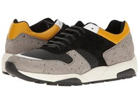 Z Zegna Techmerino Racer 2.0 Sneaker Grey Black White Yellow Men's Lace Up Casual Shoes Brown