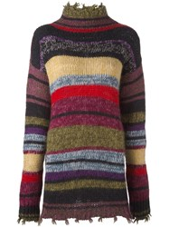 Etro Striped Turtleneck Jumper Multicolour