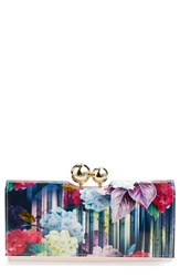 Women's Ted Baker London 'Hydrangea Haze' Floral Print Matinee Wallet
