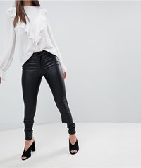 Vila Coated Skinny Jean Black
