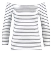 Zalando Essentials Long Sleeved Top White Navy Off White