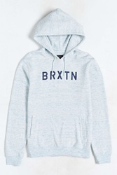 Brixton Murray Hooded Pullover Sweatshirt Blue