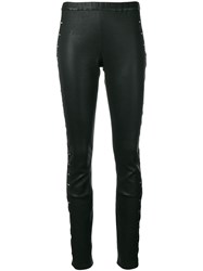 Haider Ackermann Laser Cut Out Leggings Black