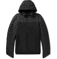 Herno Laminar Quilted Gore Tex Windstopper Shell Hooded Jacket Black