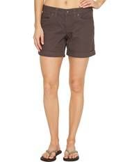 Mountain Khakis Camber 106 Shorts Relaxed Fit Slate Women's Shorts Metallic