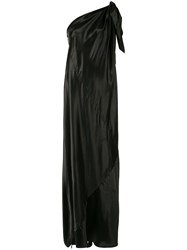 Maison Martin Margiela Mm6 One Shoulder Evening Dress Black