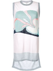 Delpozo Knitted Tank Top Pink And Purple