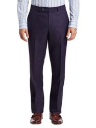 Saks Fifth Avenue Collection Wool Blend Pants Navy