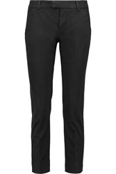 7 For All Mankind Stretch Cotton Twill Tapered Pants Black